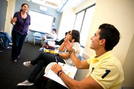 Students at the San Francisco Embassy school.